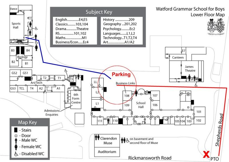 WBGS-Table Tennis Academy map